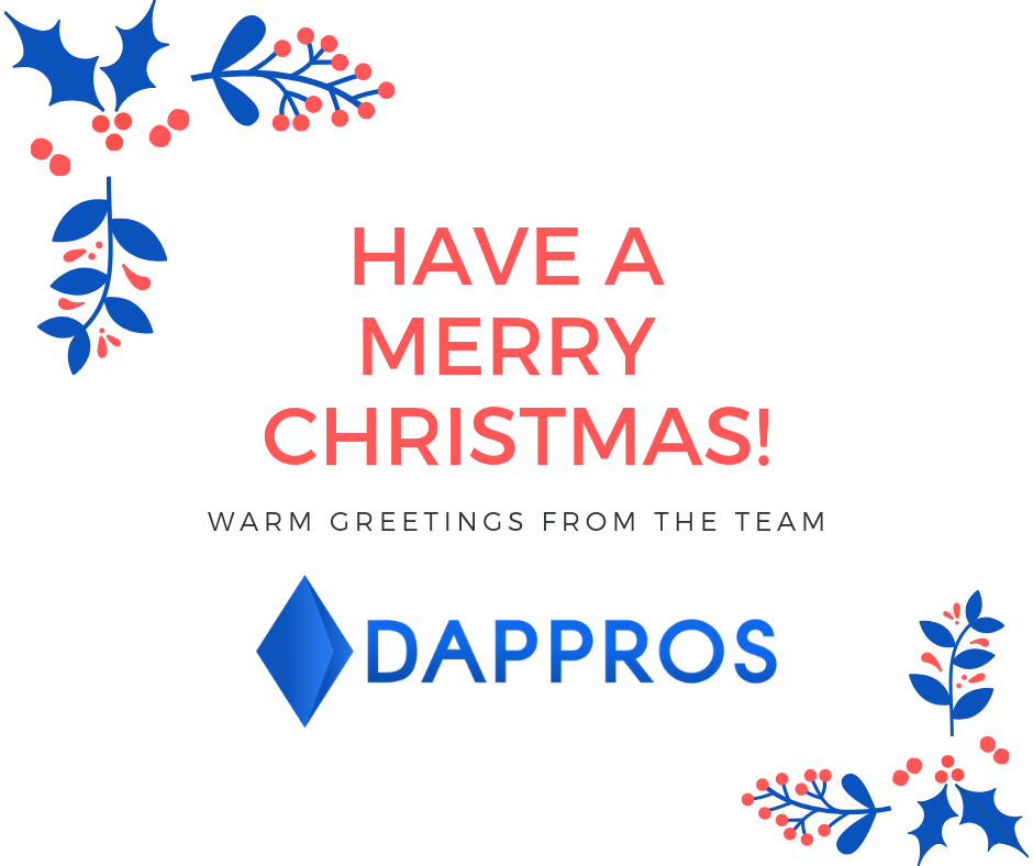 Merry Christmas - greetings from Dappros blockchain studio