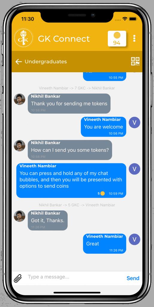Golden Key chat screen